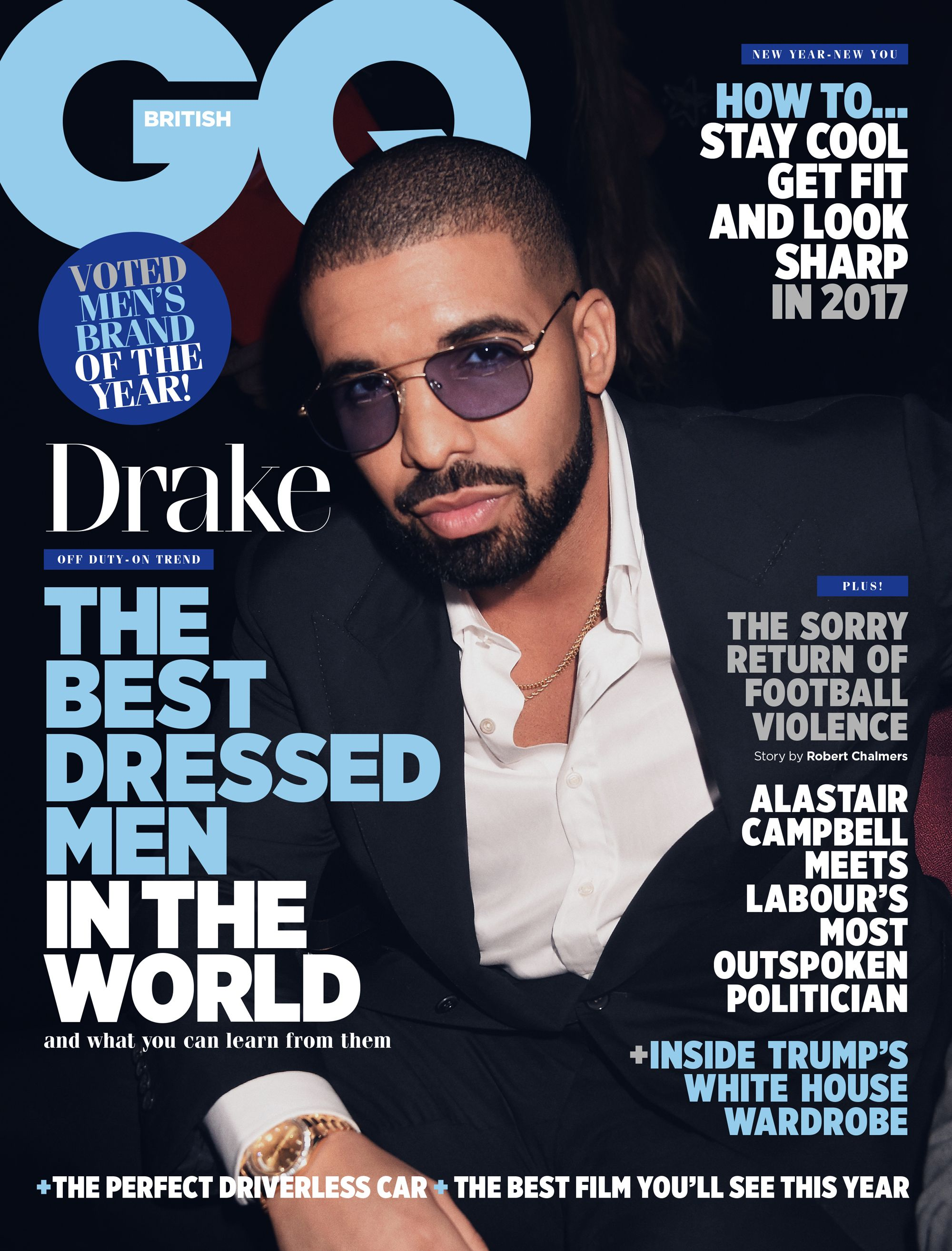 GQ Magazine February 2017 Cover And Contents
